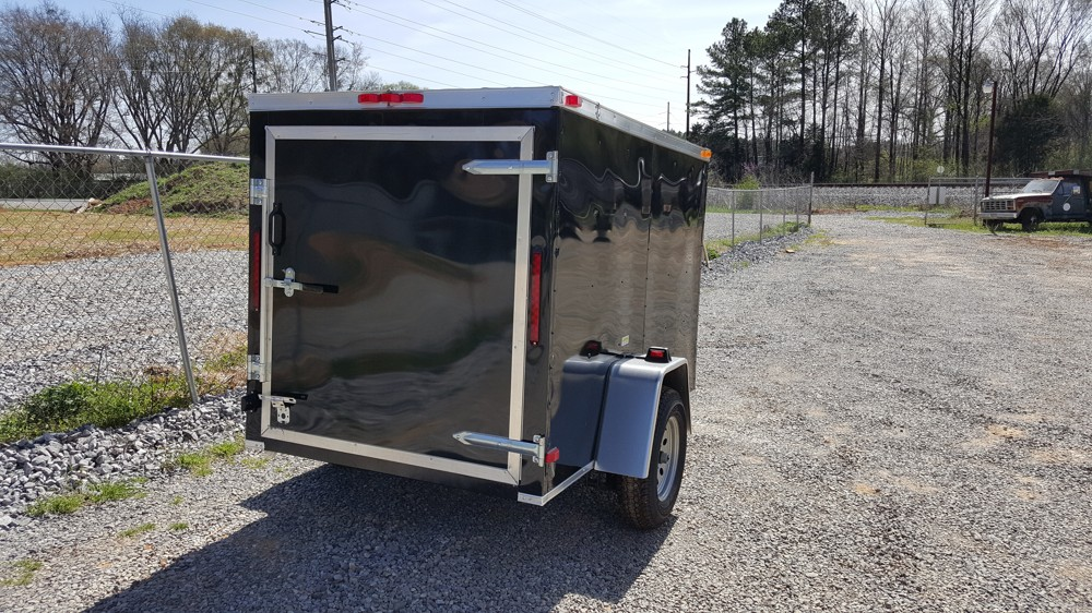 5x8 Enclosed Trailer Black