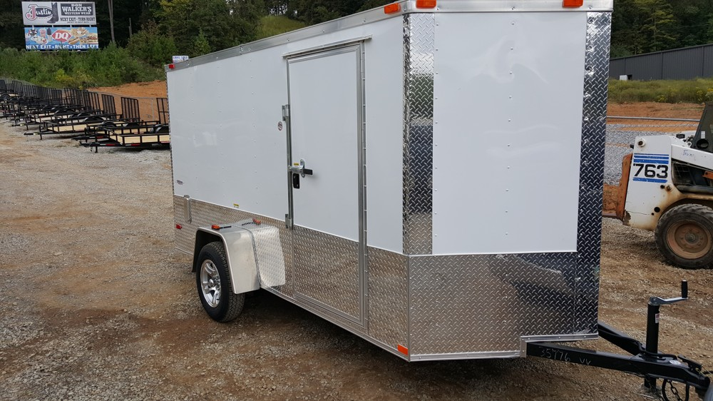 Single Axle Trailer Specs : White enclosed trailer motorcycle package
