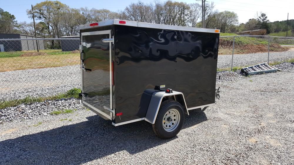 5x8 Enclosed Trailer Black