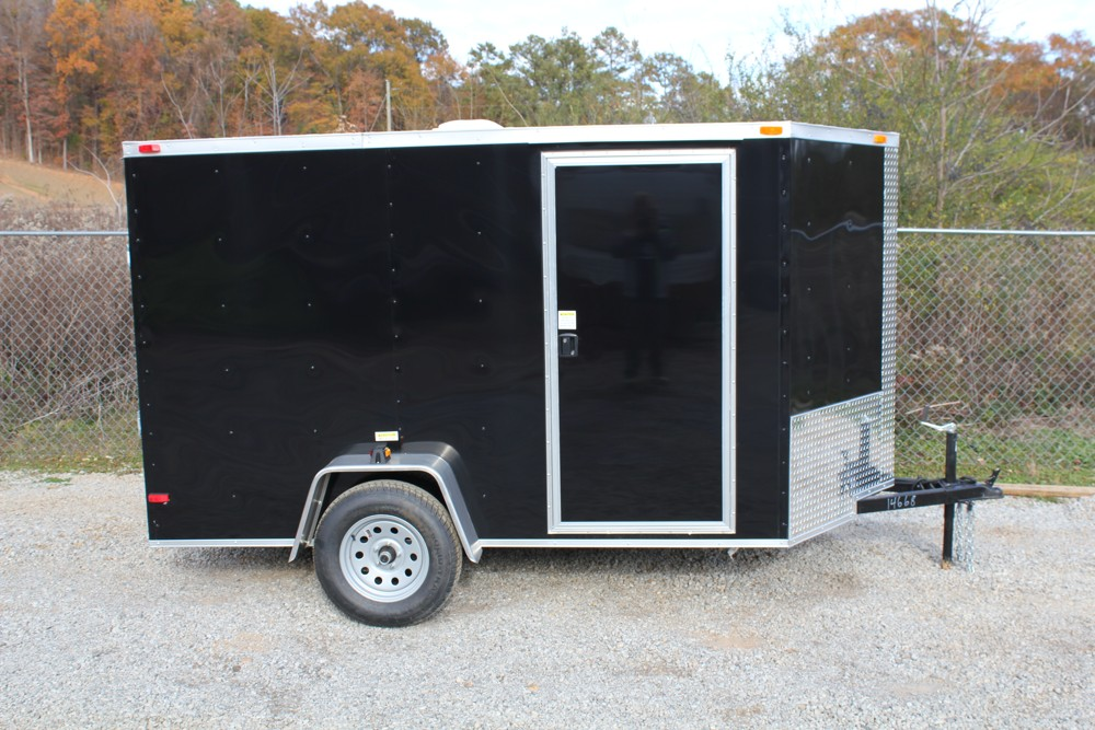 A Black 6x10 Enclosed Trailer For Sale