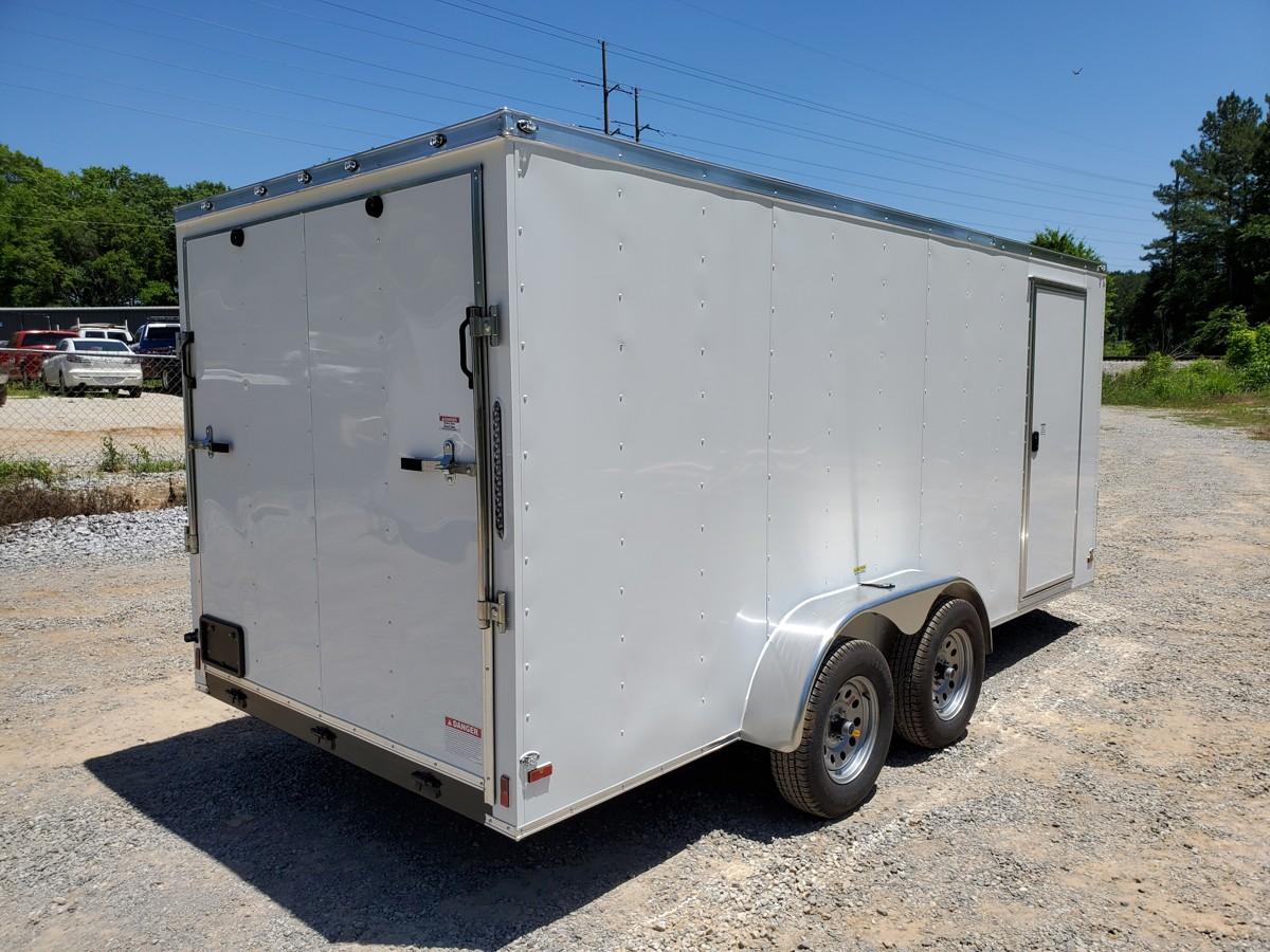 7x16 Enclosed Tandem Axle Trailer