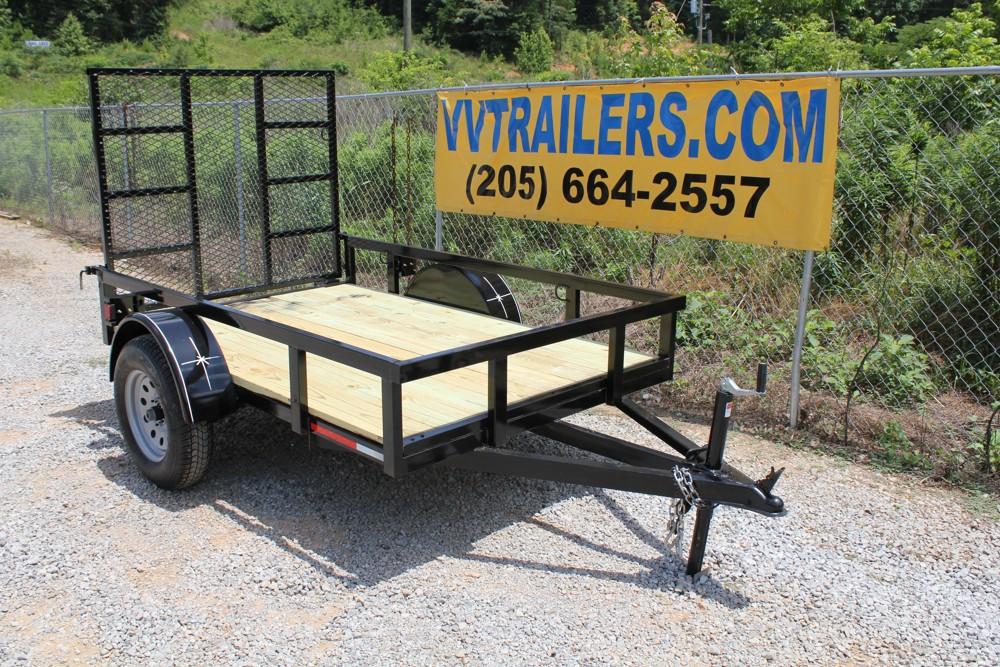 5x8 Tubing Single Axle Utility Trailer For Sale