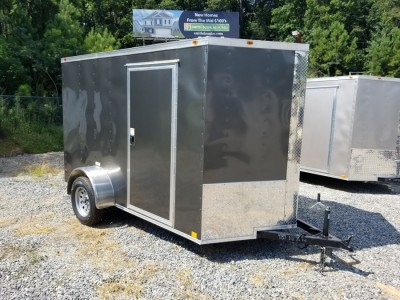 6x10 Enclosed Trailer Charcoal