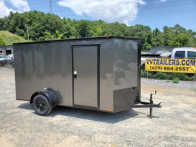6x12 Black Out Charcoal Enclosed Trailer