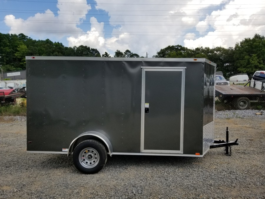 6x12 Enclosed Trailer Charcoal