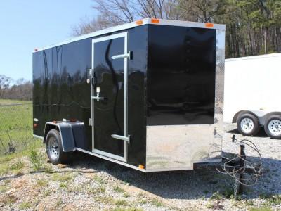 6x12 Enclosed Single Axle Trailer - Black
