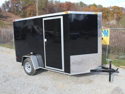 6x10 Enclosed Single Axle Trailer - Black