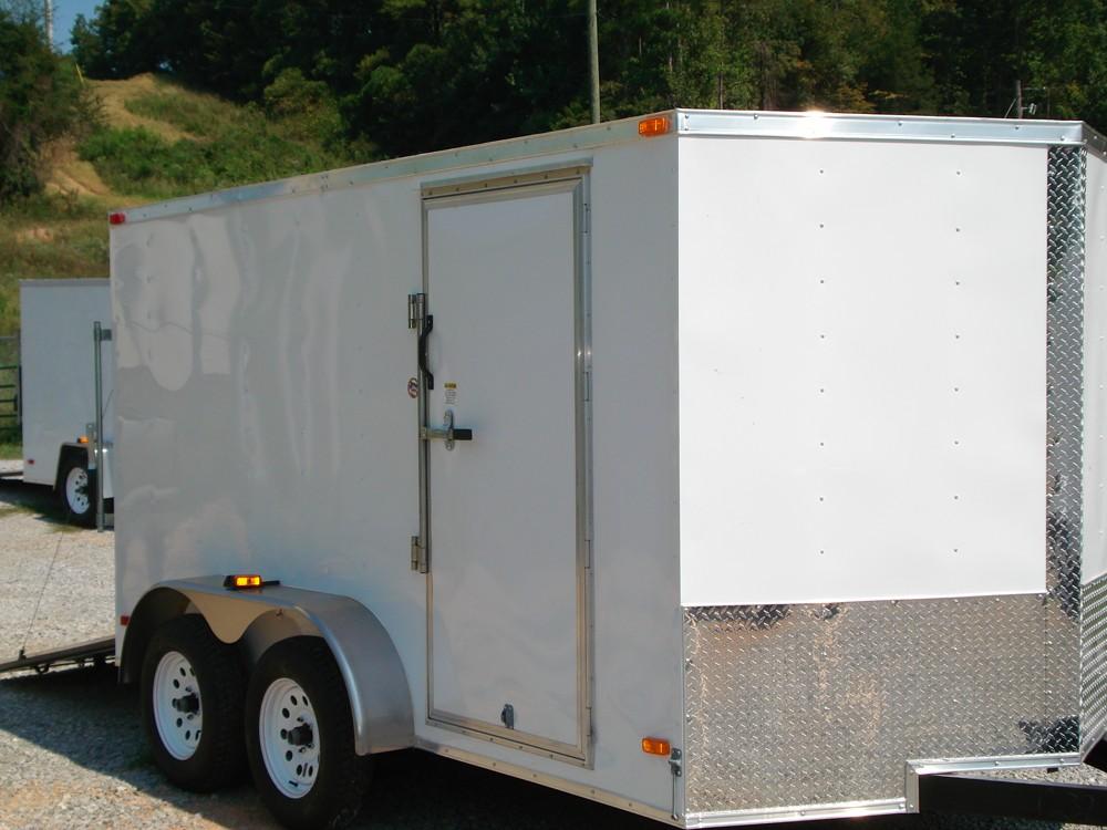 7x12 Enclosed Tandem Axle Trailer